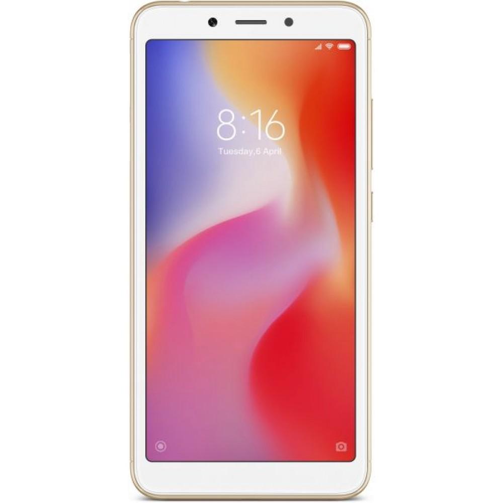 Xiaomi Redmi 6A Dual SIM - 16GB, 2GB RAM, 4G LTE, Gold - International Version