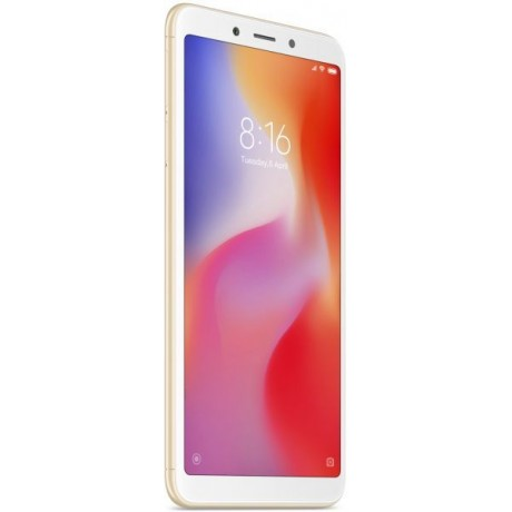 Xiaomi Redmi 6 Dual SIM - 64GB, 3GB RAM, 4G LTE, Gold - International Version