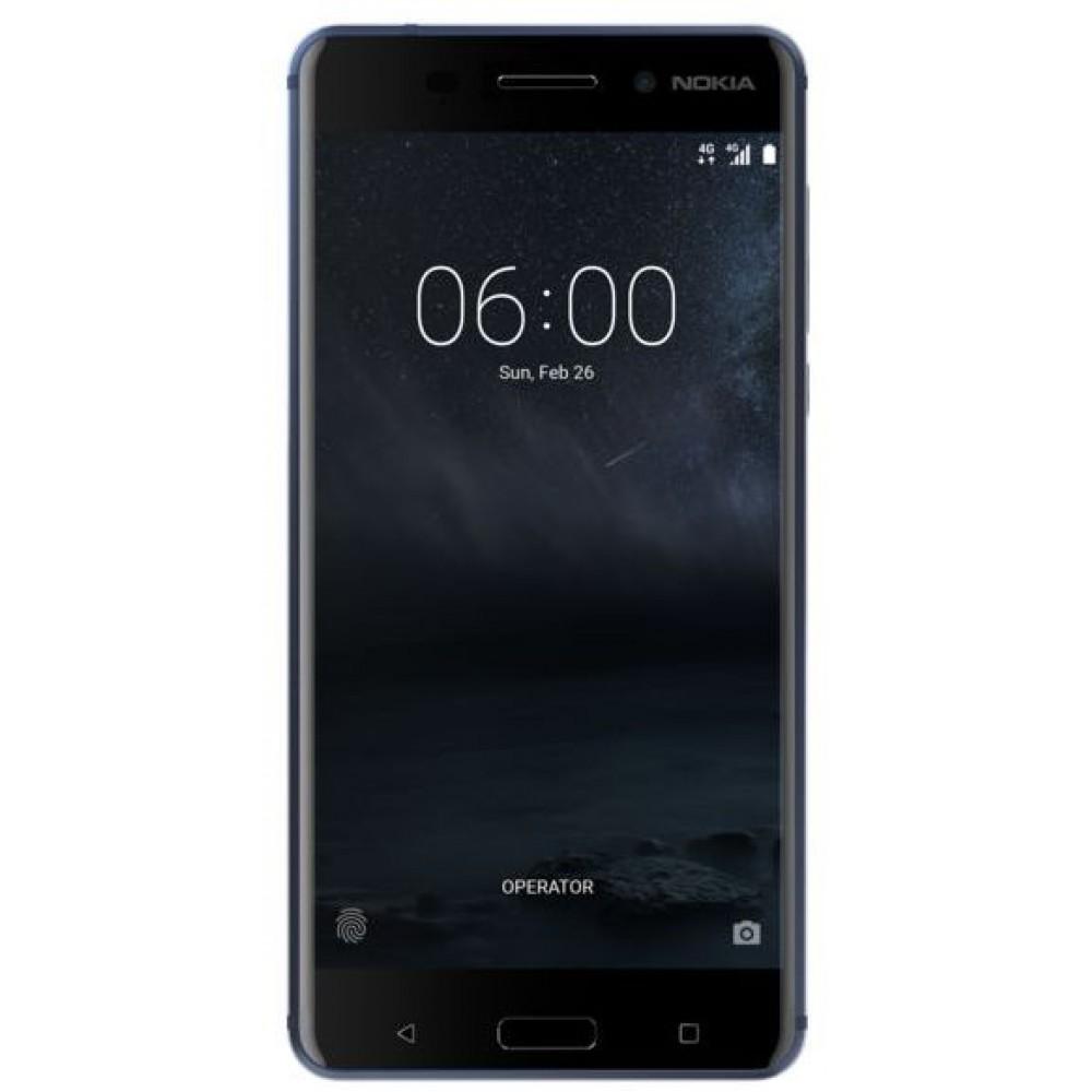 Nokia 6 Dual Sim - 32GB, 3GB RAM, 4G LTE, Tempered Blue
