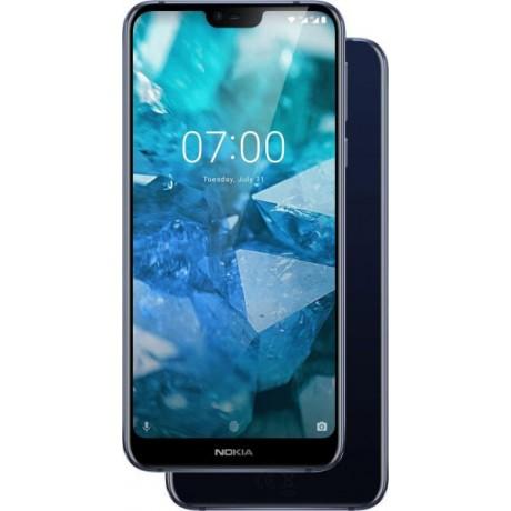 Nokia 7.1 Dual SIM - 64GB , 4GB RAM , 4G LTE , Blue