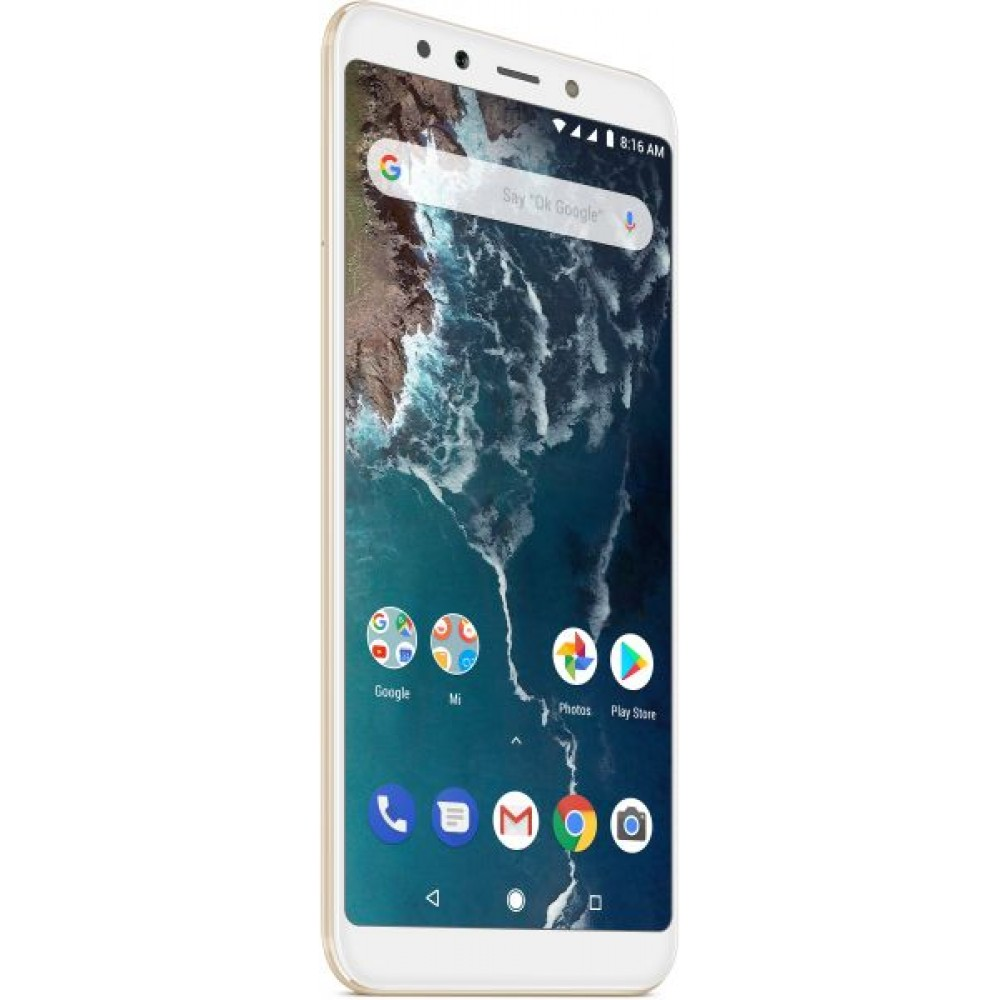 Xiaomi Mi A2 Dual SIM - 128GB, 6GB RAM, 4G LTE, Gold – International Version
