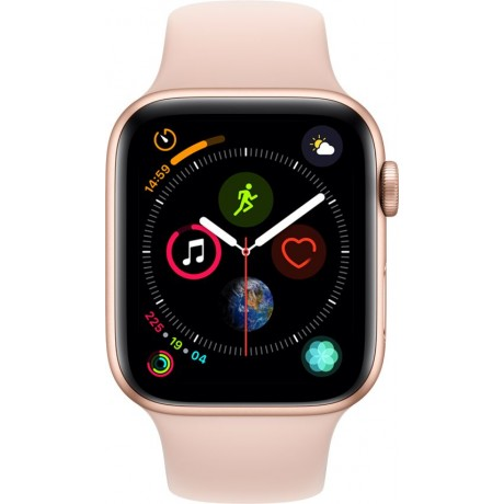 Apple Watch Series 4 - 44mm Gold Aluminum Case with Pink Sand Sport Band, GPS, watchOS 5
