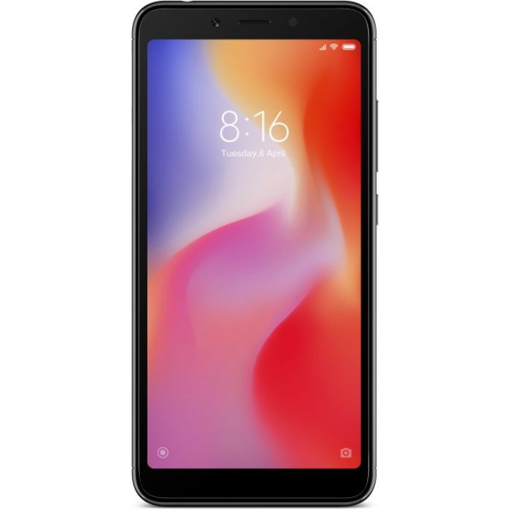 Xiaomi Redmi 6A Dual SIM - 16GB, 2GB RAM, 4G LTE, Black - International Version