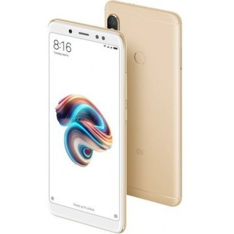 Xiaomi Redmi Note 5 AI Edition Dual SIM - 64GB, 4GB RAM, 4G LTE, Gold