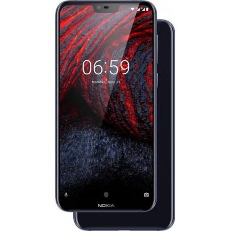 Nokia 6.1 Plus Dual Sim - 64GB, 4GB RAM, 4G LTE, Blue
