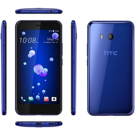 HTC U 11 Dual SIM - 64GB, 4GB RAM, 4G LTE, Sapphire Blue