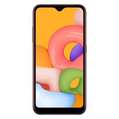 Samsung Galaxy A01 - 5.7-inch 16GB-2GB Dual SIM 4G Mobile Phone - Red
