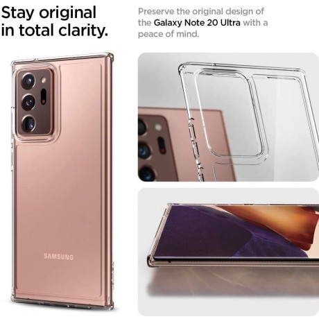 Spigen Ultra Hybrid Designed For Samsung Galaxy Note 20 Ultra 5G Case (2020) - Crystal Clear