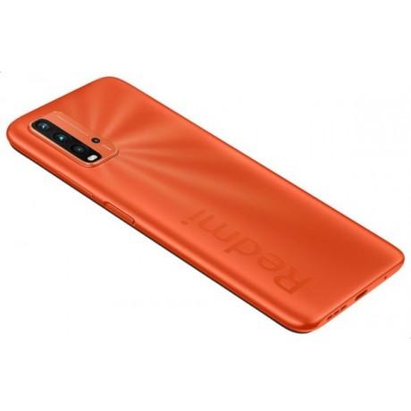 Xiaomi Redmi 9T Dual SIM Mobile - 6.53 Inch, 64 GB, 4 GB RAM, 4G LTE - Sunrise Orange with Xiaomi Mi True Basic 2 Wireless Earbuds