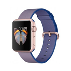 Apple Watch Sport - 42mm Rose Gold Aluminum Case with Royal Blue Woven Nylon Band, MMFP2
